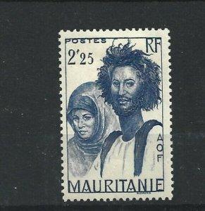 MAURITANIA  1938 - 40  2F 25  BRIGHT BLUE          MH
