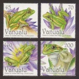Vanuatu Sc# 1008-11 MNH Green & Golden Bell Frog