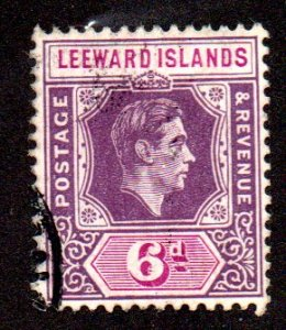 LEEWARD ISLANDS 110 USED SCV $3.50 BIN $1.40 ROYALTY
