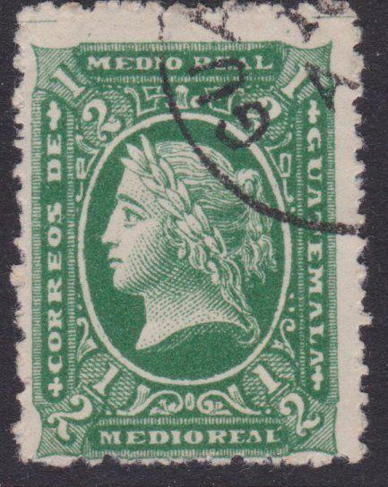 GUATEMALA  An old forgery of a classic stamp................................4878