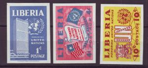 J16898 JLstamps 1953 liberia mnh #338-40 imperfs designs
