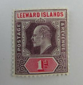 Leeward Islands SC #30  KEVII  1d MNH stamp