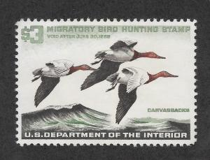 RW32 MNH, Federal Duck Stamp, scv: $100, FREE INSURED SHIPPING30