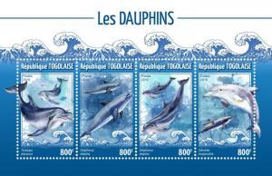 TOGO- 2019 - Dolphins - Perf 4v Sheet  - MNH