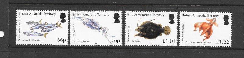 FISH - BRITISH ANTARCTIC TERRITORY 2018 ISSUE   MNH