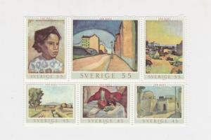 Sweden 1969 Paintings Mint Never Hinged Stamps Sheet ref R 17799