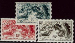 French Polynesia SCV#176-178 MNH VF...Worth a Close Look!