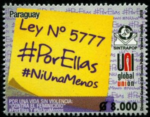 HERRICKSTAMP NEW ISSUES PARAGUAY Sc.# 3081 Law 5777
