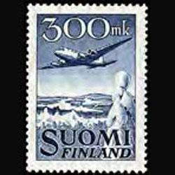 FINLAND 1950 - Scott# C3 Plane and Landscape Set of 1 LH