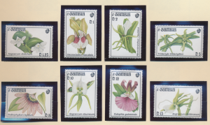 Gambia Stamps Scott #1514 To 1521, Mint Never Hinged, Orchids - Free U.S. Shi...
