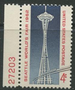 STAMP STATION PERTH USA #1196  MLH OG 1962  CV$0.25.