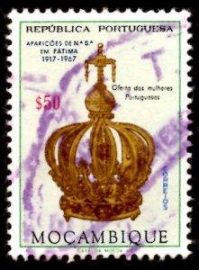 Mozambique 1967 Virgin's Crown, Virgin Mary, Fatima 50c Scott.480 Used (#1)