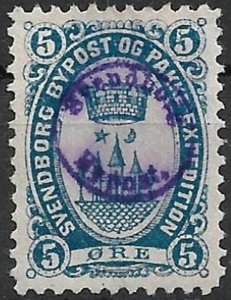 Denmark - SVENDBORG BYPOST (Local, Private Post) - 4 values used