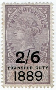 (I.B) QV Revenue : Transfer Duty 2/6d (1889)
