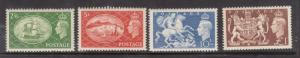 Great Britain #286 - #289 Very Fine Never Hinged Set