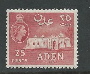 Aden # 51  Mosque    25c    perf.12  (1)   Mint NH