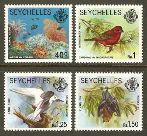 Seychelles #393, 396-8 NH 4 Defins Issued in 1977