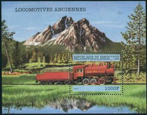 Benin 1079,MNH. Early locomotives,1998.Shelby Steel 0-6-0.