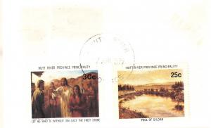 Hutt River on Cover Cocos (Keeling) Islands Stamp to UK 1980