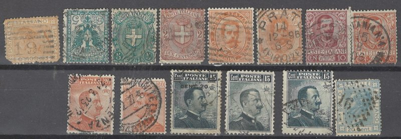 COLLECTION LOT # 2518 ITALY 14 STAMPS 1867+ CV+$25