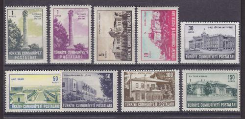 Turkey Sc 1568-1577 MNH. 1963 Views, cplt set, fresh, well centered.