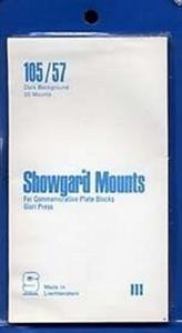 Showgard Stamp Mounts Size 105 mm / 57 mm BLACK  (Pack of 20)