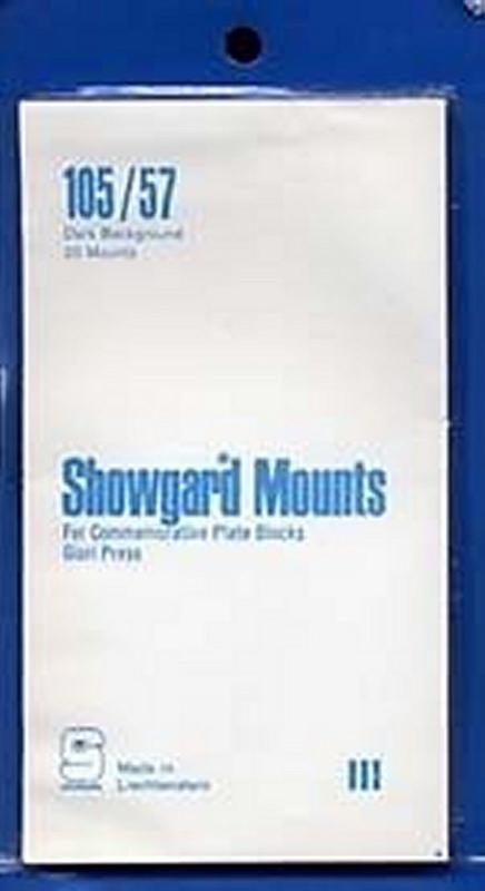 Showgard Stamp Mounts Size 105 mm / 57 mm BLACK  (Pack of 20)