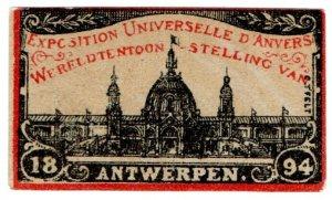 (I.B) Belgium Cinderella : Universal Exposition (Antwerp 1894)