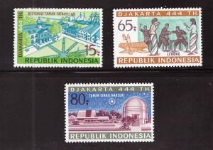 Indonesia  Scott 800-802 MH* stamp set