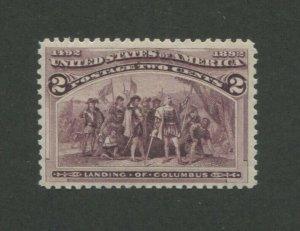 1893 United States Postage Stamp #231 Mint Never Hinged VF Original Gum
