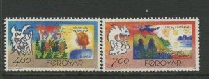 STAMP STATION PERTH Faroe Is.#282-283 Pictorial Definitive Iss.MNH 1995 CV$4.00