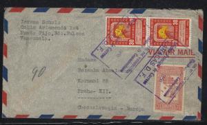 VENEZUELA  (PP0308B) 1950 A/M  30CX2+10C  A/M TO CZECHOSLOVAKIA