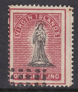 VIRGIN ISLANDS ^^^^^^Rarer   sc#7 used CLASSIC $$@dcc329virg