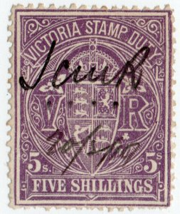 (I.B) Australia - Victoria Revenue : Stamp Duty 5/-