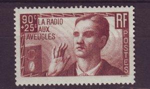 J24628 JLstamps 1938 france set of 1 mh #b79 radio blind man