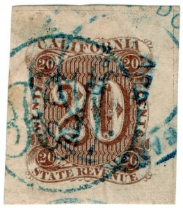 (I.B) US Revenue : Duty Stamp 20c (California)