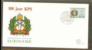 1995 - Rep. Surinam FDC E183 - Professions - Police - 100 year Police Force i...
