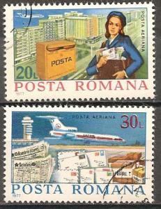 Romania #C213-4  F-VF Used CV $2.75 (ST070)