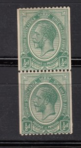 J28436, 1913-24 south africa mh #17 coil pair king