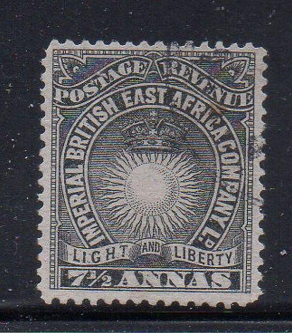 British East Africa Sc 22 1890 7 1/2 anna stamp used