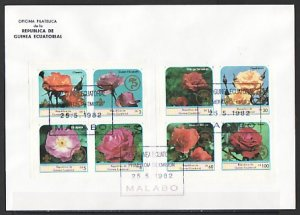Equatorial Guinea, 1982 issue. Roses o/p, Scout Logo. Large First day cover. ^