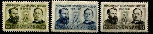 Slovakia 62 - 64 1941 Set MNH Glazed Gum