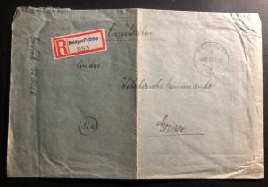 1945 Feldpost Germany Registered Cover To Wehrkreiskommando Graz