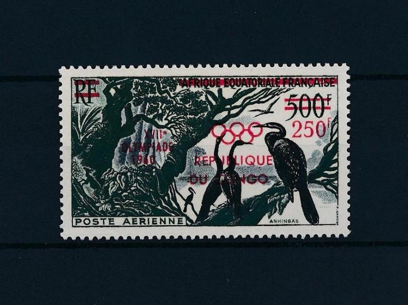 [43833] Congo Brazzaville 1960 Olympic games Rome Birds Ovp in red MNH