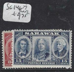 SARAWAK  (P2704B)  BROOKE  8C, 15C  SG 146-7   MOG