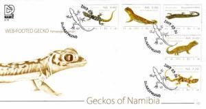 Namibia - 2009 Geckos of Namibia FDC SG 1129-1133