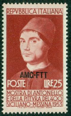 Trieste #165  Mint  VF NH  Scott $3.25  Antonello da Mess...