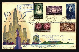 South Africa 1952 300 Years of Progress FDC / Nice Cachet - L3795