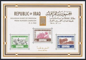 Iraq 335a sheet,MNH.Michel Bl.4. FAO 1963.Freedom from Hunger campaign.