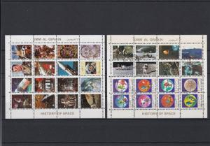 Umm Al Qiwain Space Astronauts Rockets Stamps Sheets Ref 24858